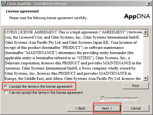 AppDNA Installation License Agreement
