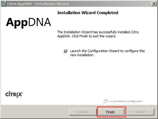 AppDNA 7 Installation Completion