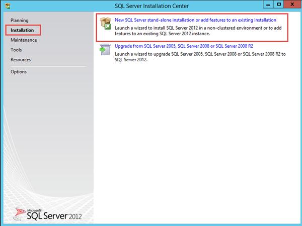 SQL 2012 Express Installation