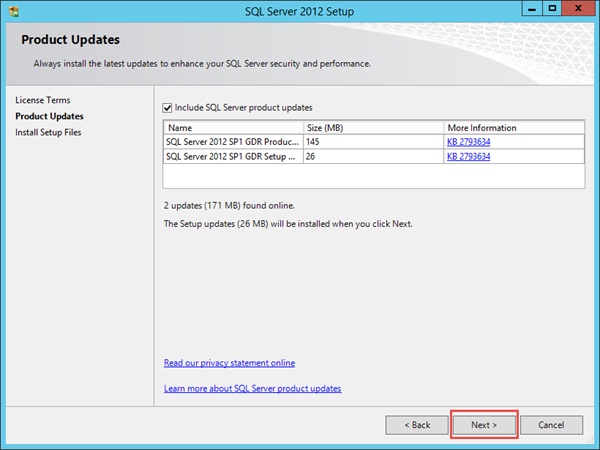 SQL Server 2012 Express Installation