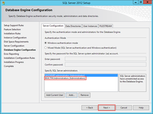 SQL Server 2012 Express Installation