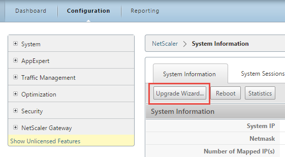 NetScaler Upgrade Wizard