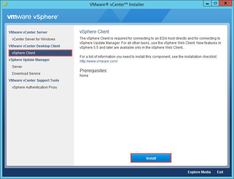 VMware vSphere 6 Client Install