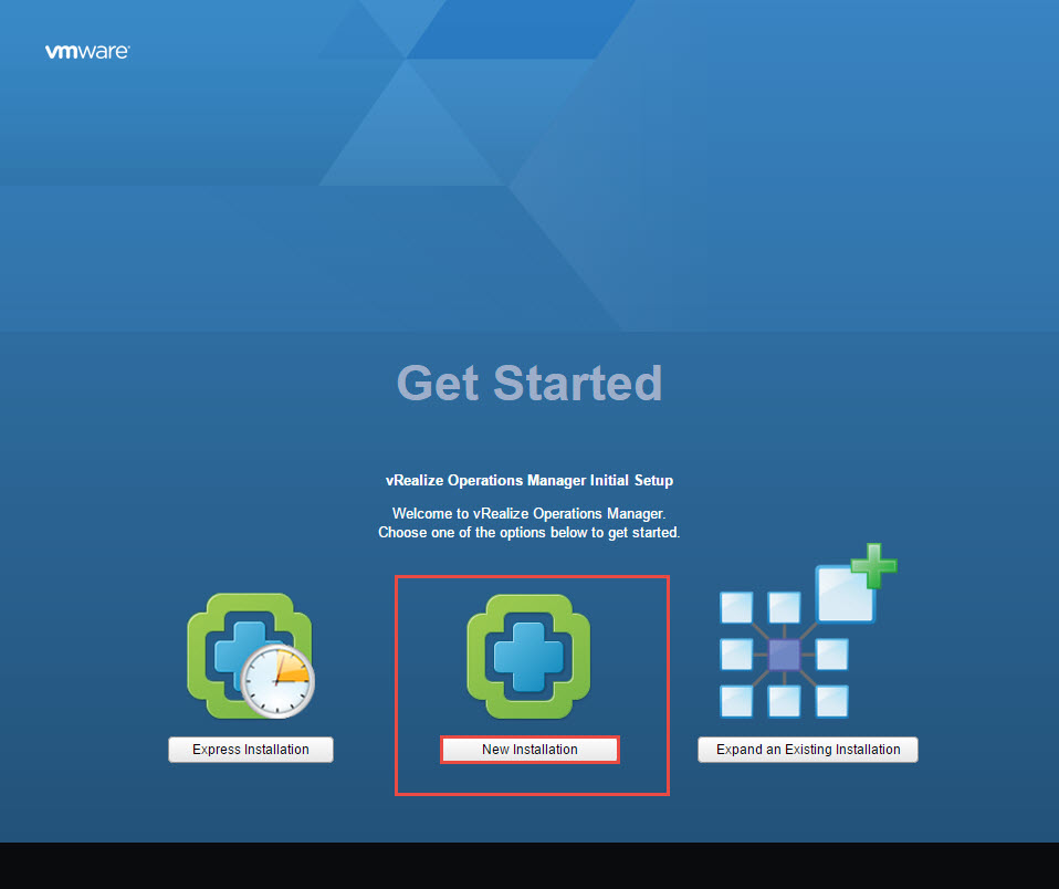 vRealize Operations Manager New Installation