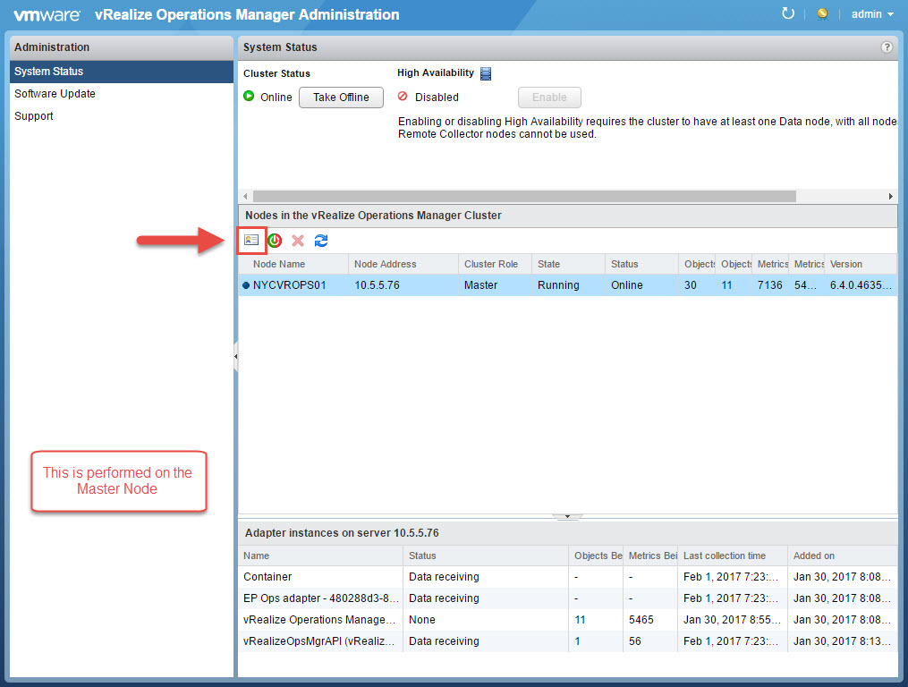 vRealize Operations Manager Add Remote Collector